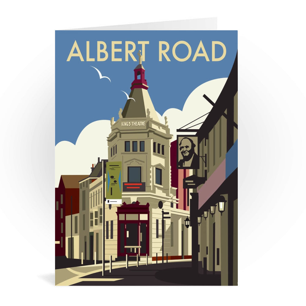 Albert Road, Portsmouth Greeting Card 7x5