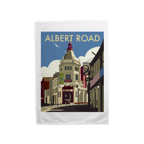 Albert Road, Portsmouth Tea Towel