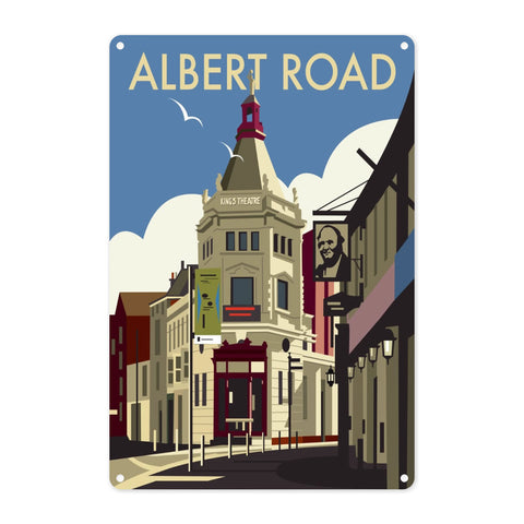 Albert Road, Portsmouth Metal Sign