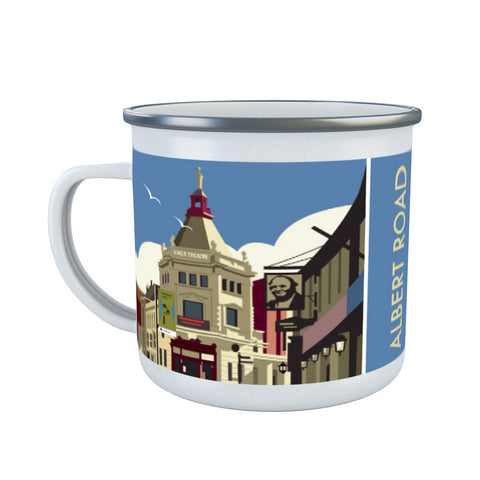 Albert Road, Portsmouth Enamel Mug