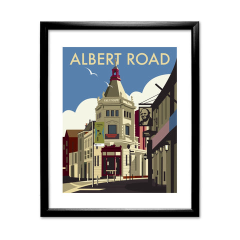 Albert Road, Portsmouth 11x14 Framed Print (Black)