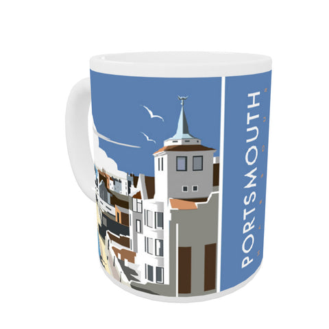 Portsmouth Harbour Coloured Insert Mug