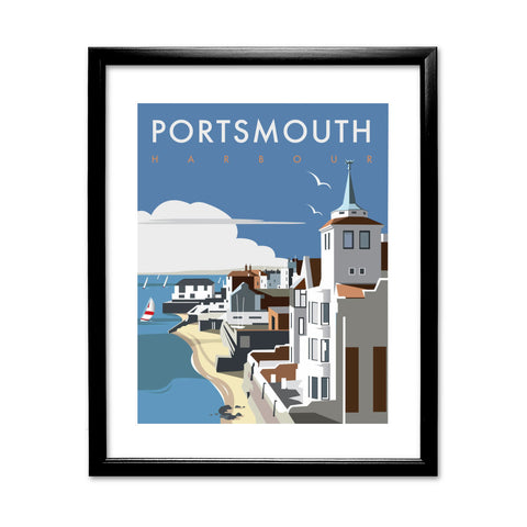 Portsmouth Harbour 11x14 Framed Print (Black)