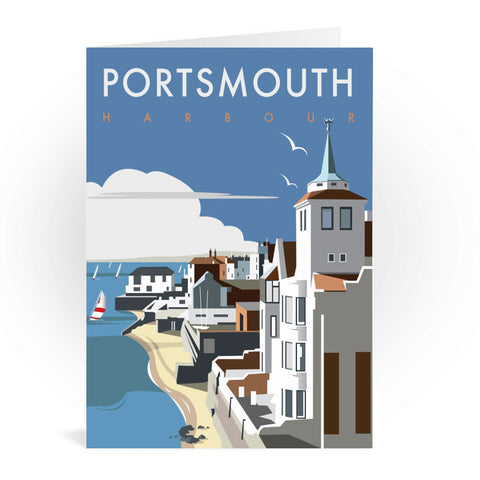 Portsmouth Harbour Greeting Card 7x5