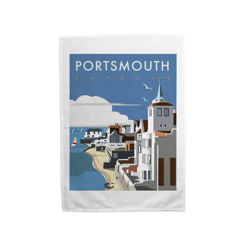 Portsmouth Harbour Tea Towel