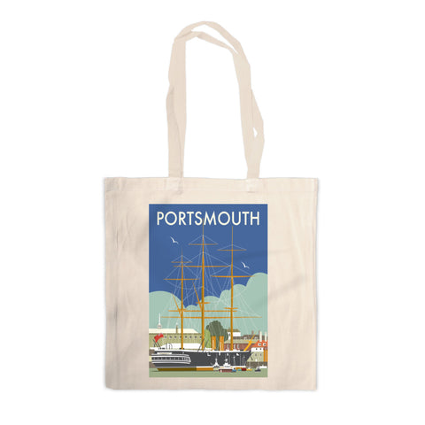 HMS Warrior, Portsmouth Canvas Tote Bag
