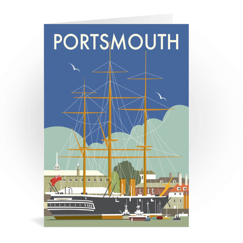 HMS Warrior, Portsmouth Greeting Card 7x5