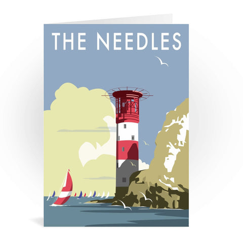 The Needles, Isle of Wight Greeting Card 7x5