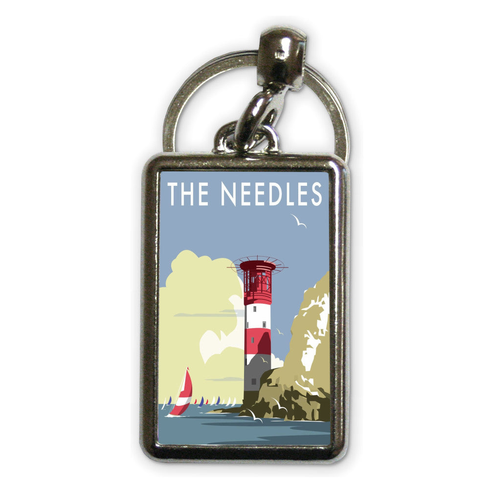 The Needles, Isle of Wight Metal Keyring