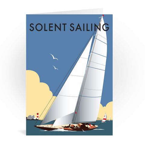 Solent Sailing Greeting Card 7x5