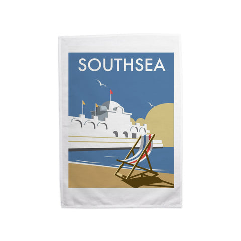 Southsea Pier, Portsmouth Tea Towel