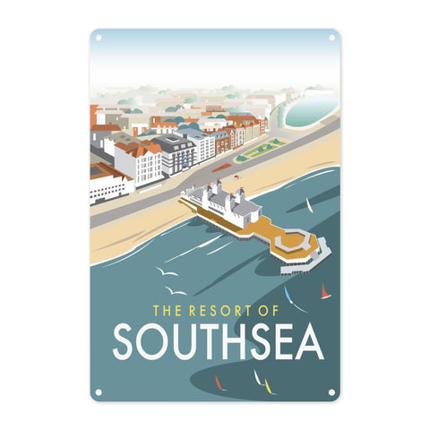 Southsea, Portsmouth, from the air Metal Sign