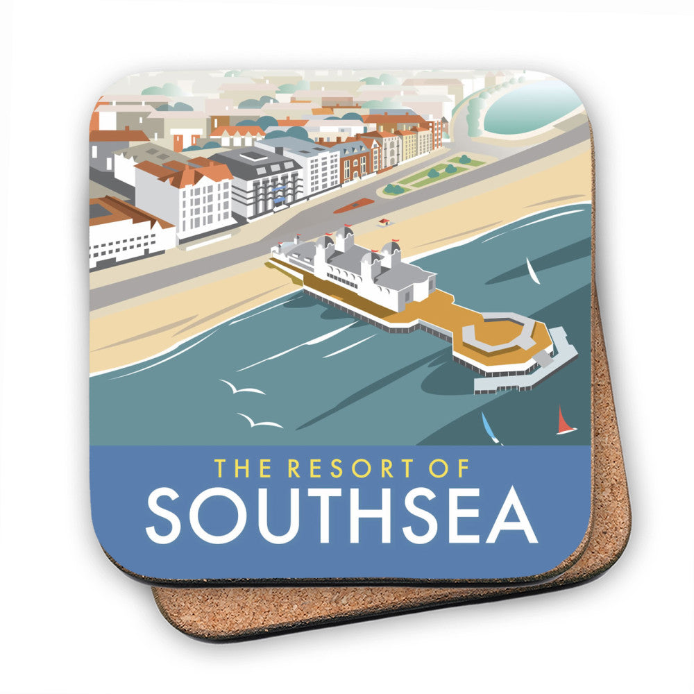Southsea, Portsmouth, from the air MDF Coaster