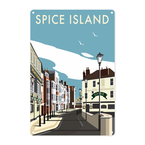 Spice Island, Portsmouth Metal Sign