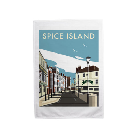 Spice Island, Portsmouth Tea Towel