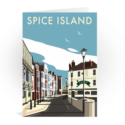 Spice Island, Portsmouth Greeting Card 7x5