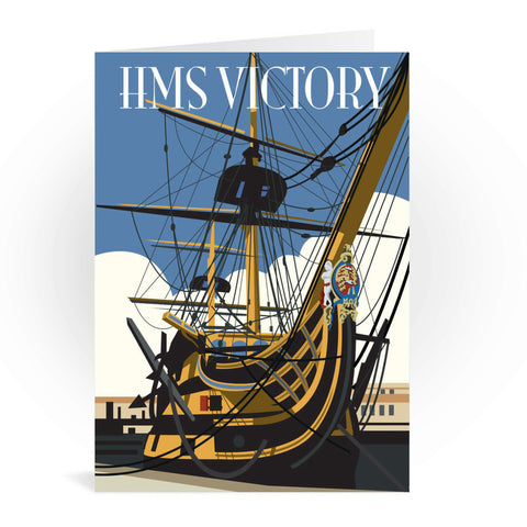 HMS Victory, Portsmouth Greeting Card 7x5