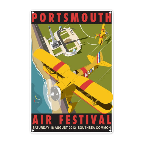 Portsmouth Air Festival Metal Sign