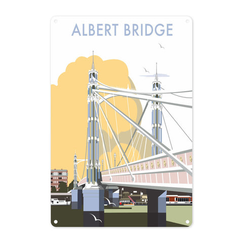 Albert Bridge, London Metal Sign