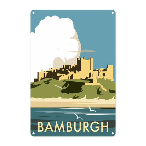 Bamburgh Castle Metal Sign