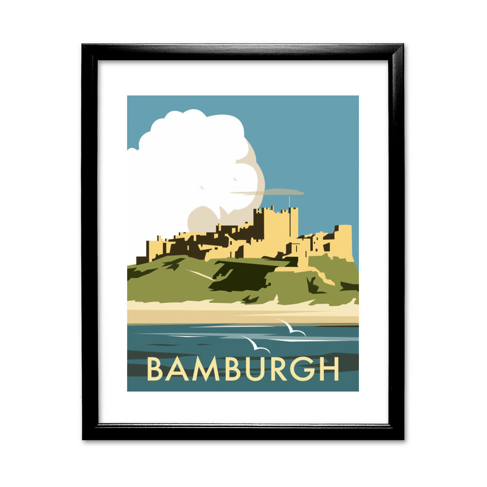 Bamburgh Castle 11x14 Framed Print (Black)