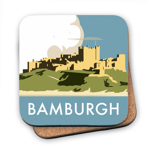 Bamburgh Castle MDF Coaster