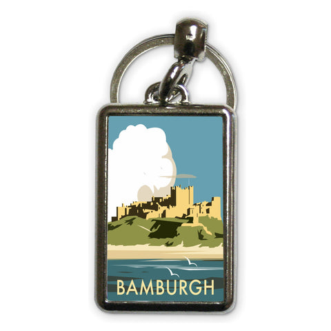 Bamburgh Castle Metal Keyring
