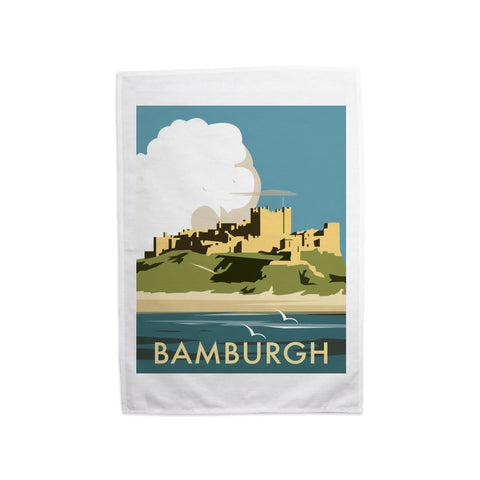 Bamburgh Castle Tea Towel