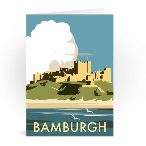 Bamburgh Castle Greeting Card 7x5