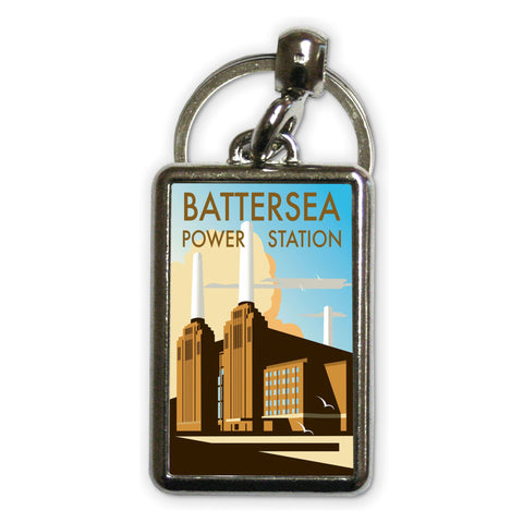 Battersea Power Station Metal Keyring
