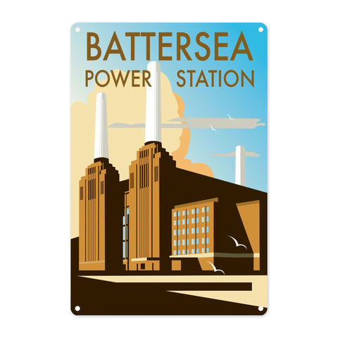 Battersea Power Station Metal Sign