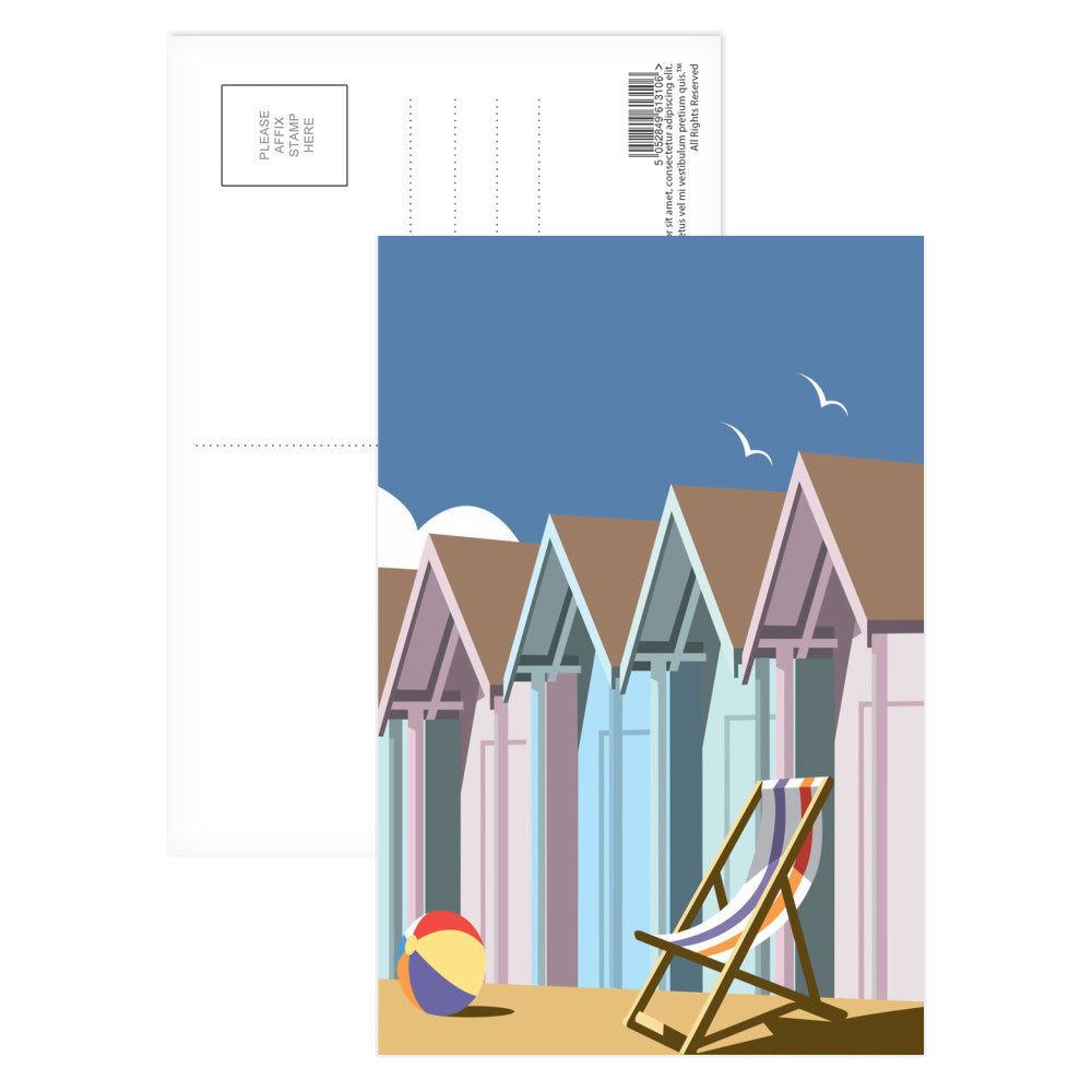 Beach Huts Postcard Pack