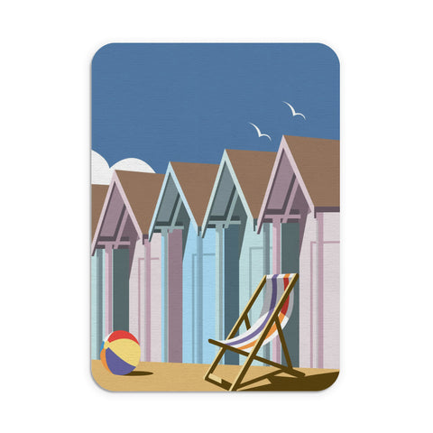 Beach Huts Mouse Mat