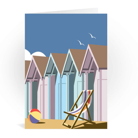 Beach Huts Greeting Card 7x5