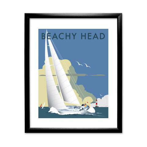 Sailing at Beachy Head 11x14 Framed Print (Black)
