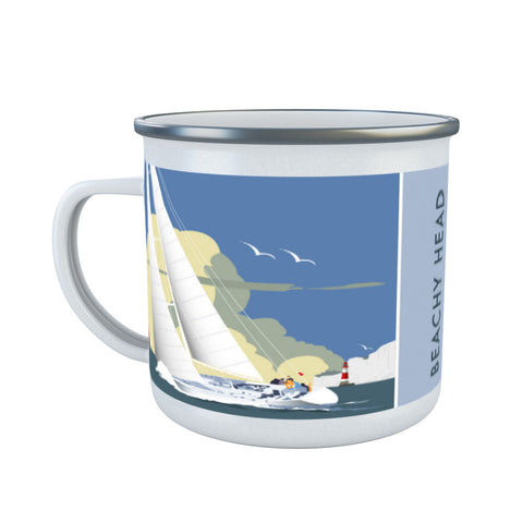 Sailing at Beachy Head Enamel Mug