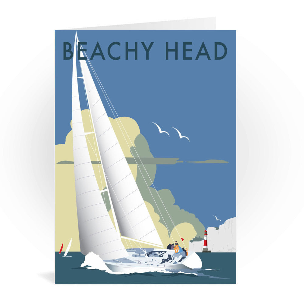 Sailing at Beachy Head Greeting Card 7x5