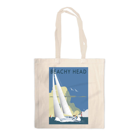 Sailing at Beachy Head Canvas Tote Bag