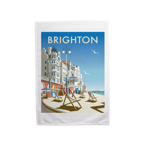 Brighton Beach Tea Towel