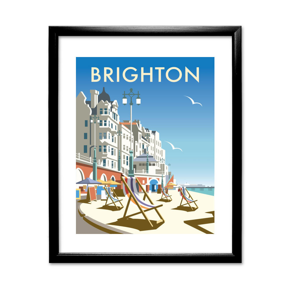Brighton Beach 11x14 Framed Print (Black)