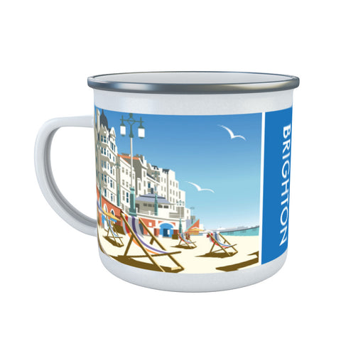 Brighton Beach Enamel Mug