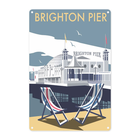 Brighton Pier Metal Sign