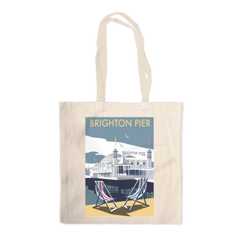 Brighton Pier Canvas Tote Bag