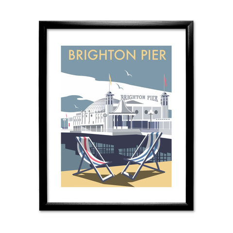 Brighton Pier 11x14 Framed Print (Black)