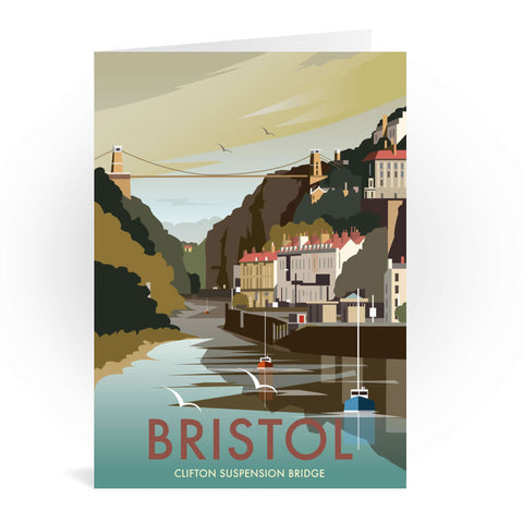 Clifton Suspension Bridge, Bristol Greeting Card 7x5