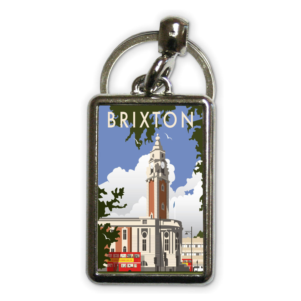 Brixton, London Metal Keyring