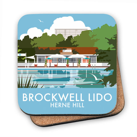 Brockwell Lido, Herne Hill, London MDF Coaster