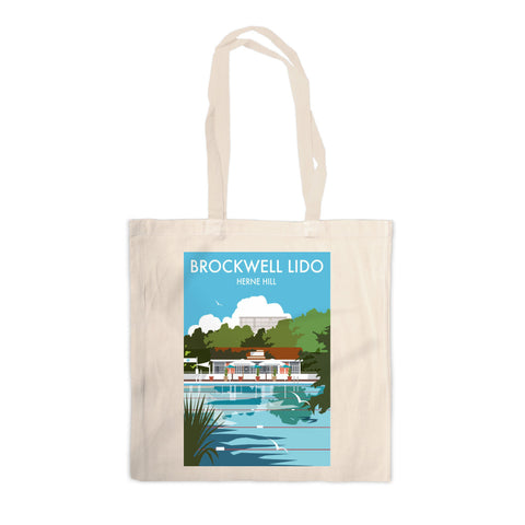 Brockwell Lido, Herne Hill, London Canvas Tote Bag
