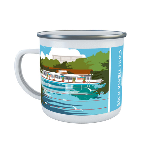 Brockwell Lido, Herne Hill, London Enamel Mug