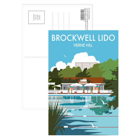 Brockwell Lido, Herne Hill, London Postcard Pack